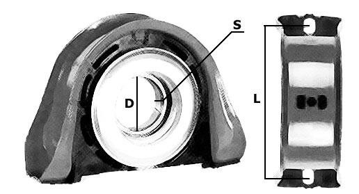 подвесной подшипник кардана volvo fl 615